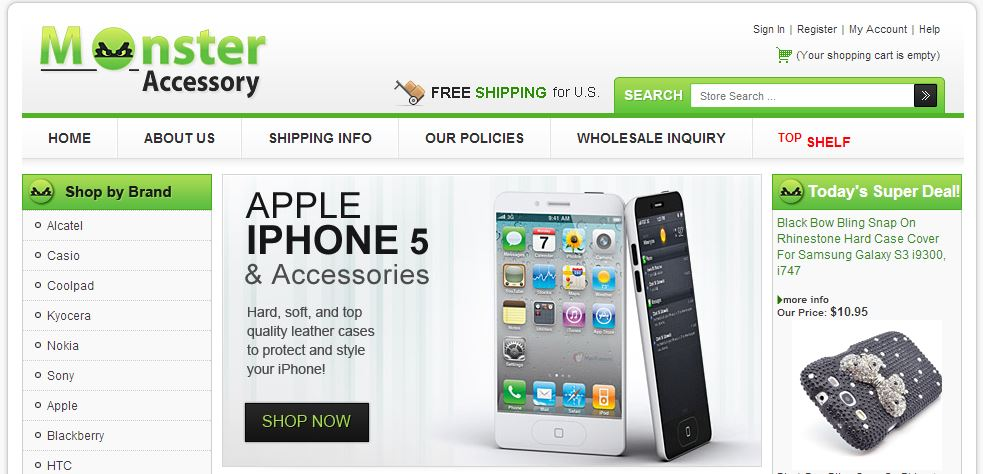 Cell Phone Accessories eBay store design