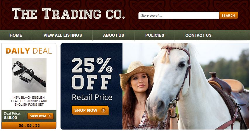 Custom eBay store design for equestrian retailers
