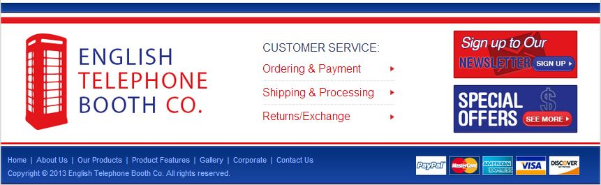 Custom eBay Store Footer