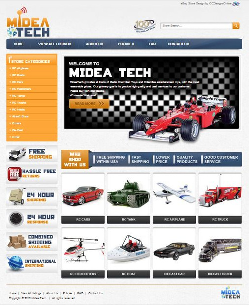 Radio Controlled custom eBay shop design