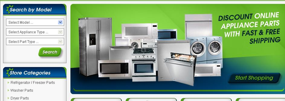 Appliance Parts Retailer eBay Store Design