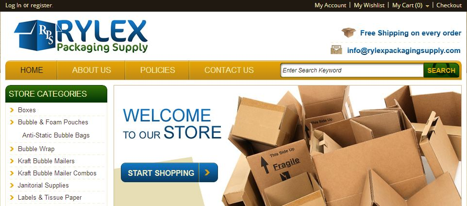 Graphics and Display Magento Go Store Design