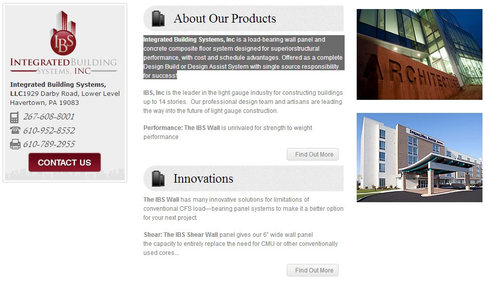 Custom web design category page