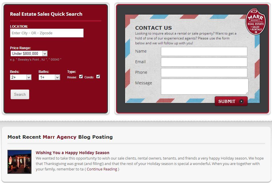 Custom one-page web design