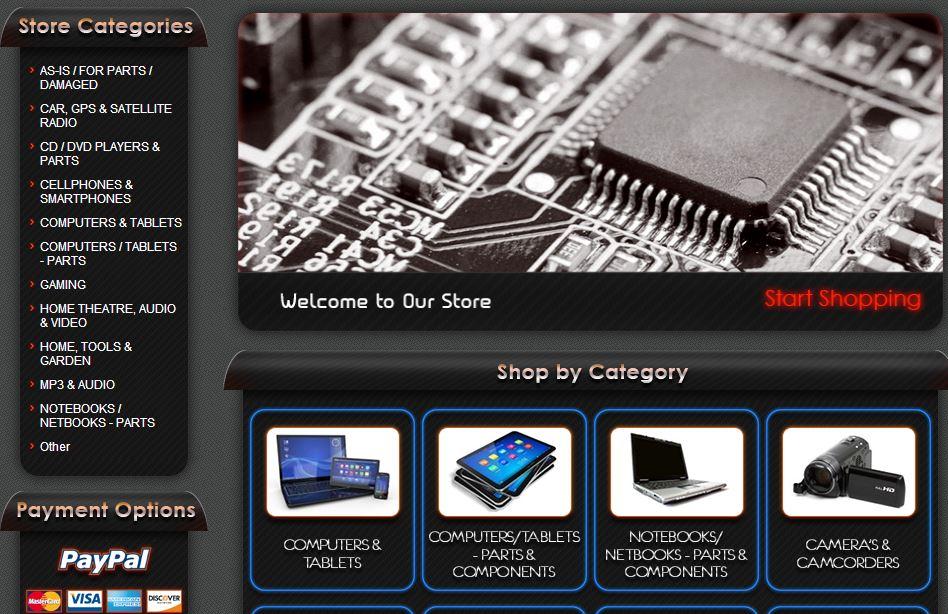 eBay custom category page