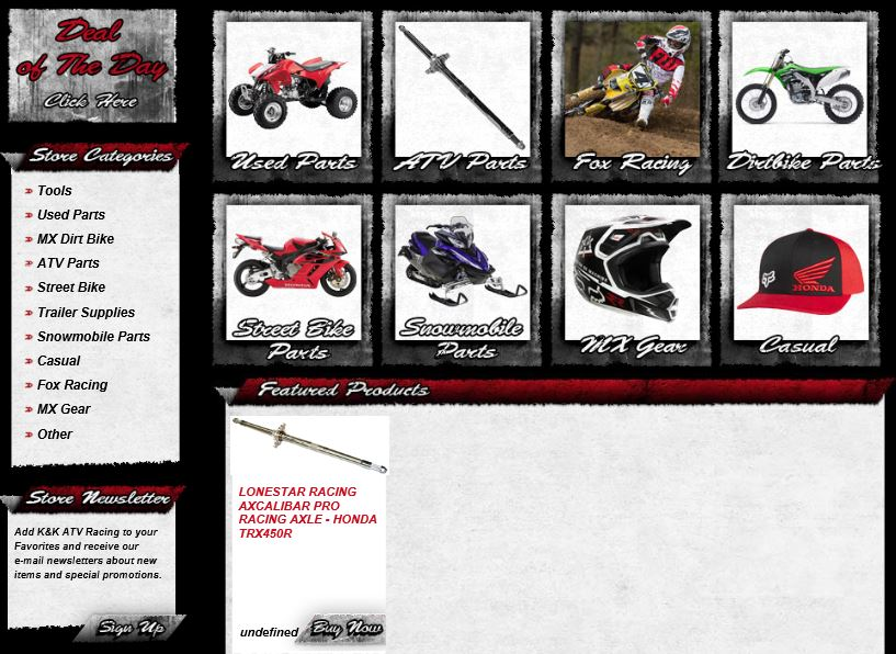 Volusion custom category page