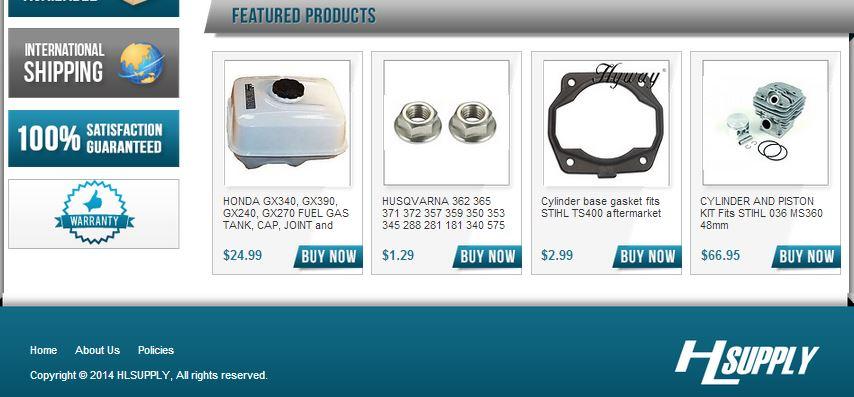Custom eBay Store Footer