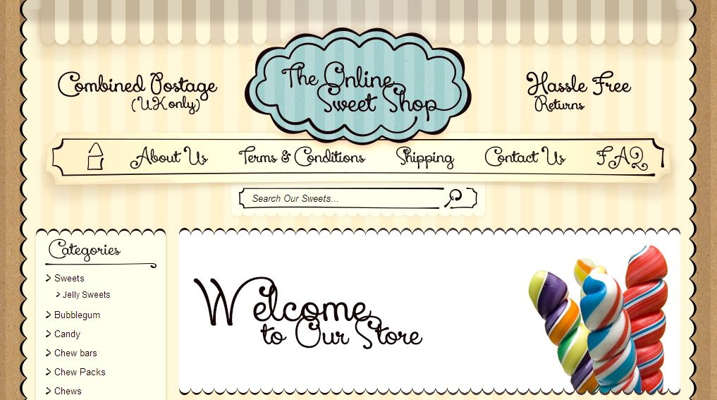 Uk S Online Sweet Shop Shines With Custom Ebay Store Design