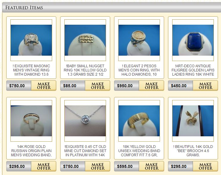 Custom eBay Store Design for Jewelers