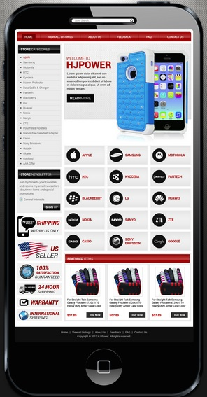 Responsive Web Design eBay Shop Design