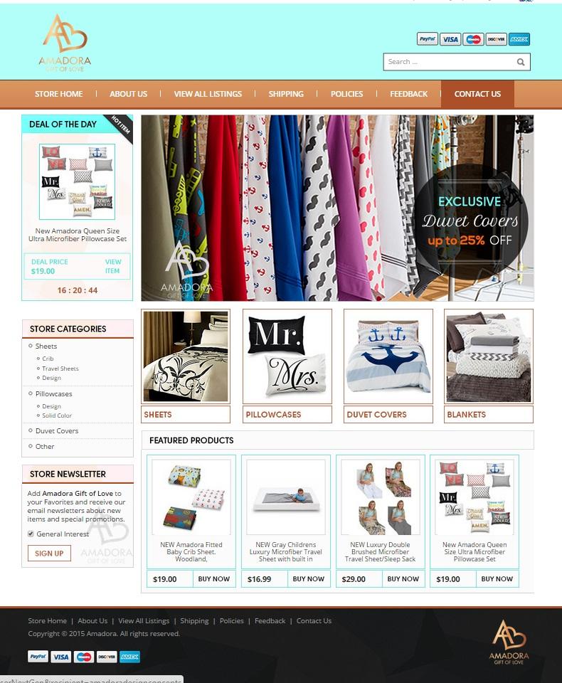 custom eBay storefront design