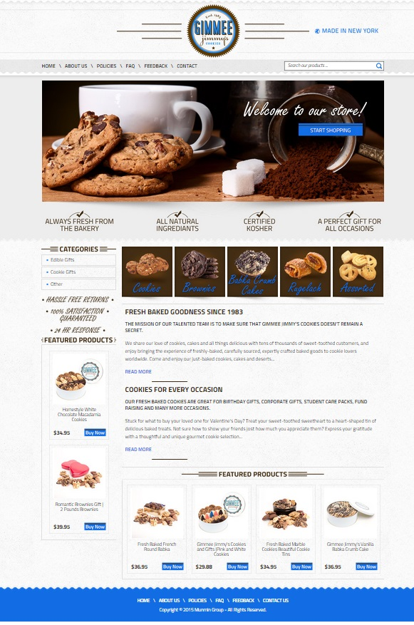 Our custom eBay store for Gimmee Jimmy's Cookies