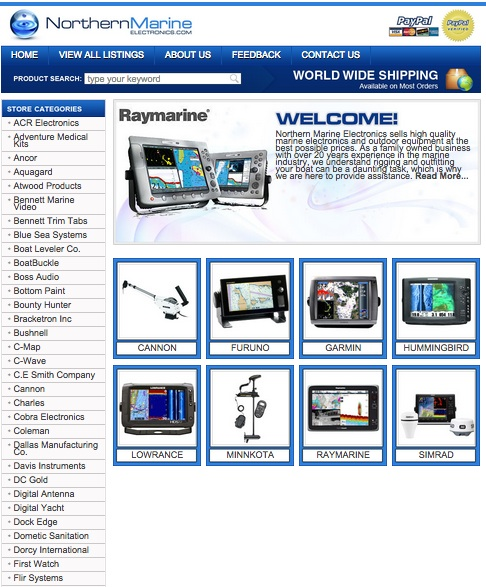 Northern Marine Electronics Turns Up Sales With Custom eBay Store