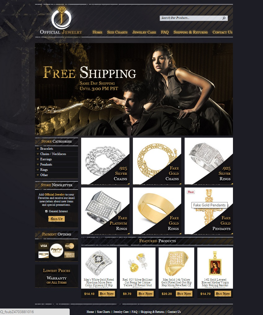 custom eBay jewelry store