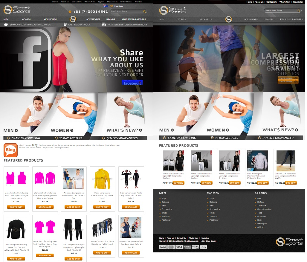 Ecommerce and eBay store designs