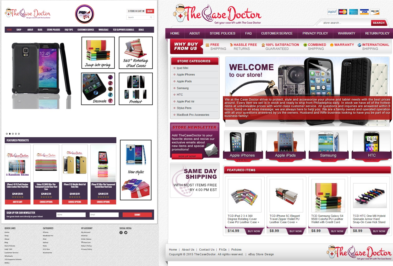 eBay and eCommerce site design