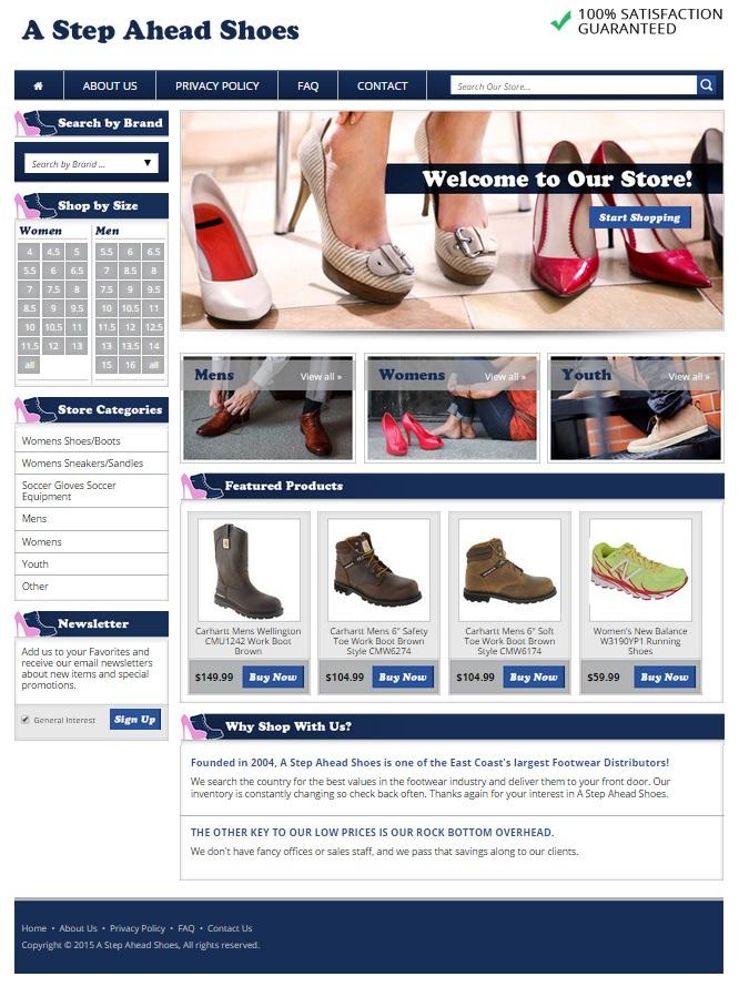 eBay storefront design