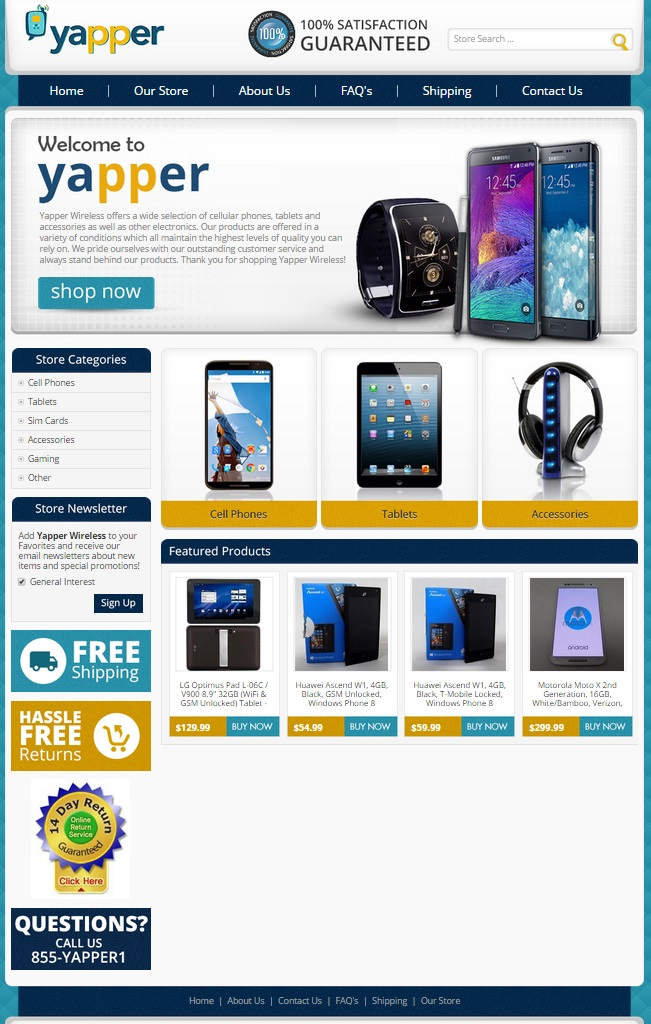eBay cell phone store design