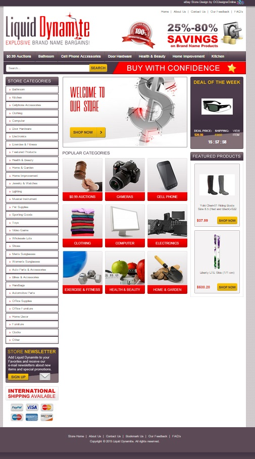 custom ecommerce design package