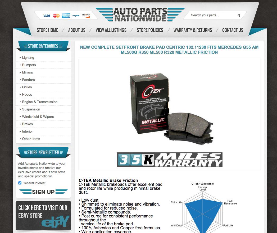 Auto Parts Nationwide Boosts Sales Through Their Custom EBay - Custom ebay templates