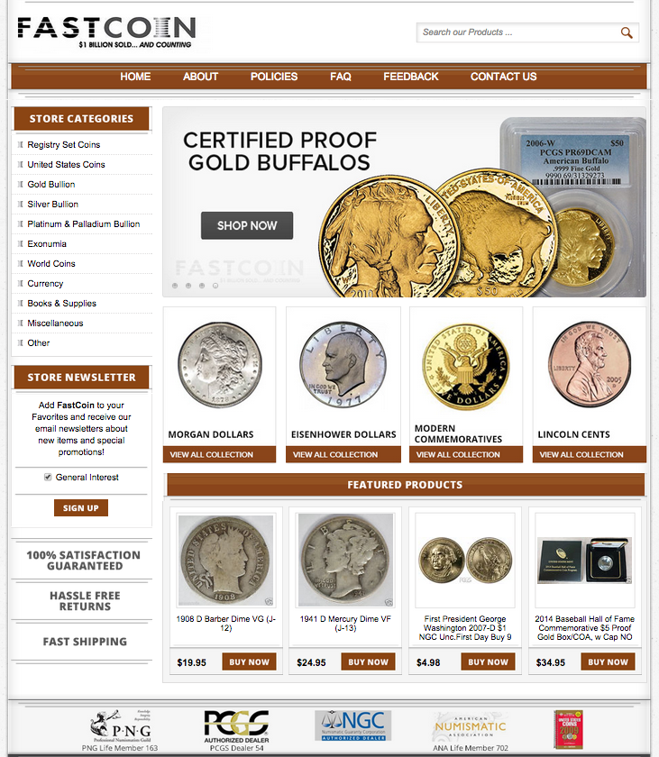 coin store designers