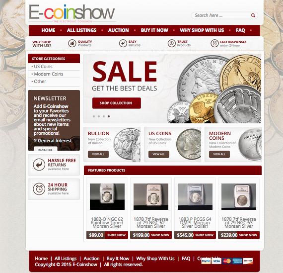 custom ebay store designs
