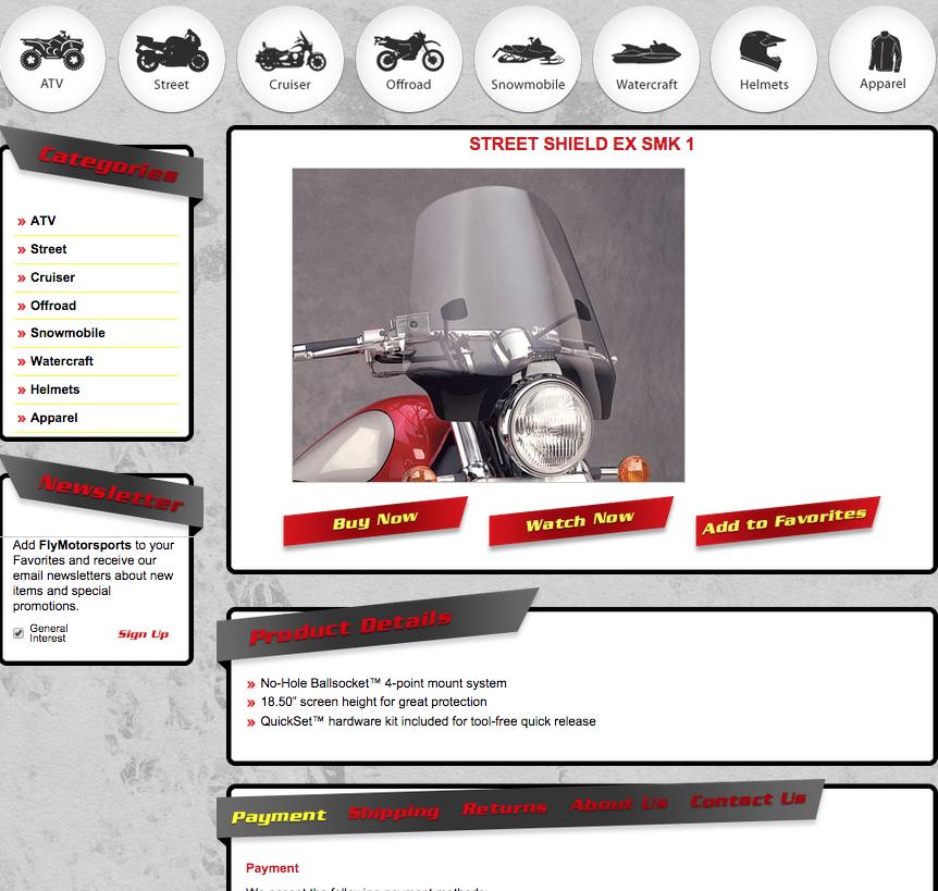 Fly motorsports experiences soaring sales after custom ebay store design ocdesignsonline for Ocdesignsonline