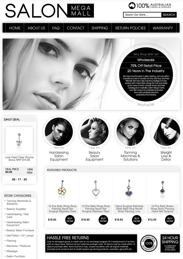 Classic black and white store design for eBay sellers from OCDesignsonline