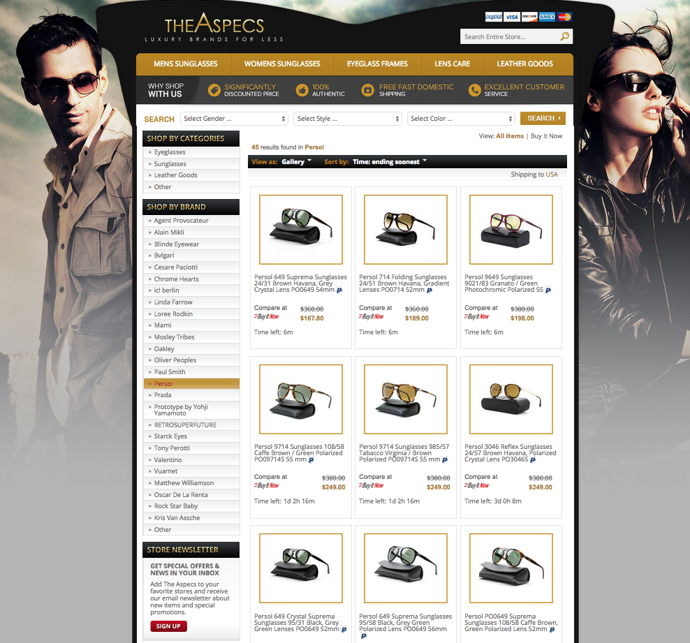 Custom category page design from OCDesignsonline