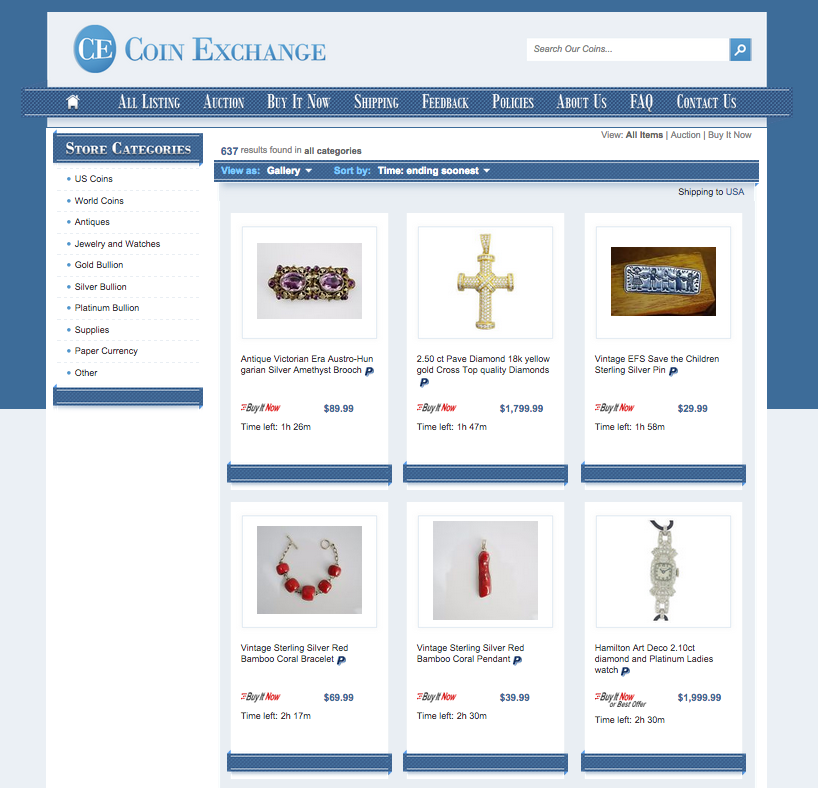 Custom category pages from OCDesignsonline