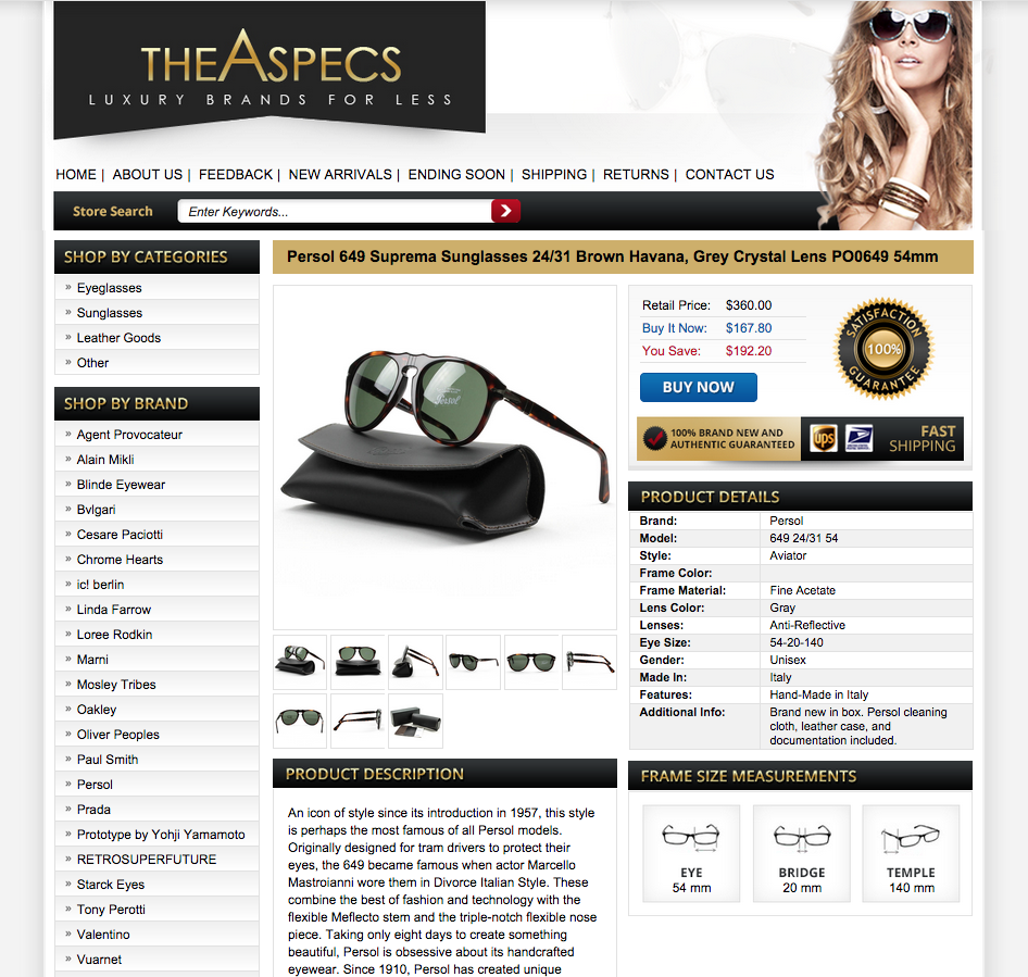 The Aspecs Dazzles Customers with Sales Boosting eBay Store Design ...