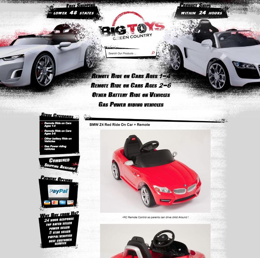 Custom listing templates from eBay store designer OCDesignsonline