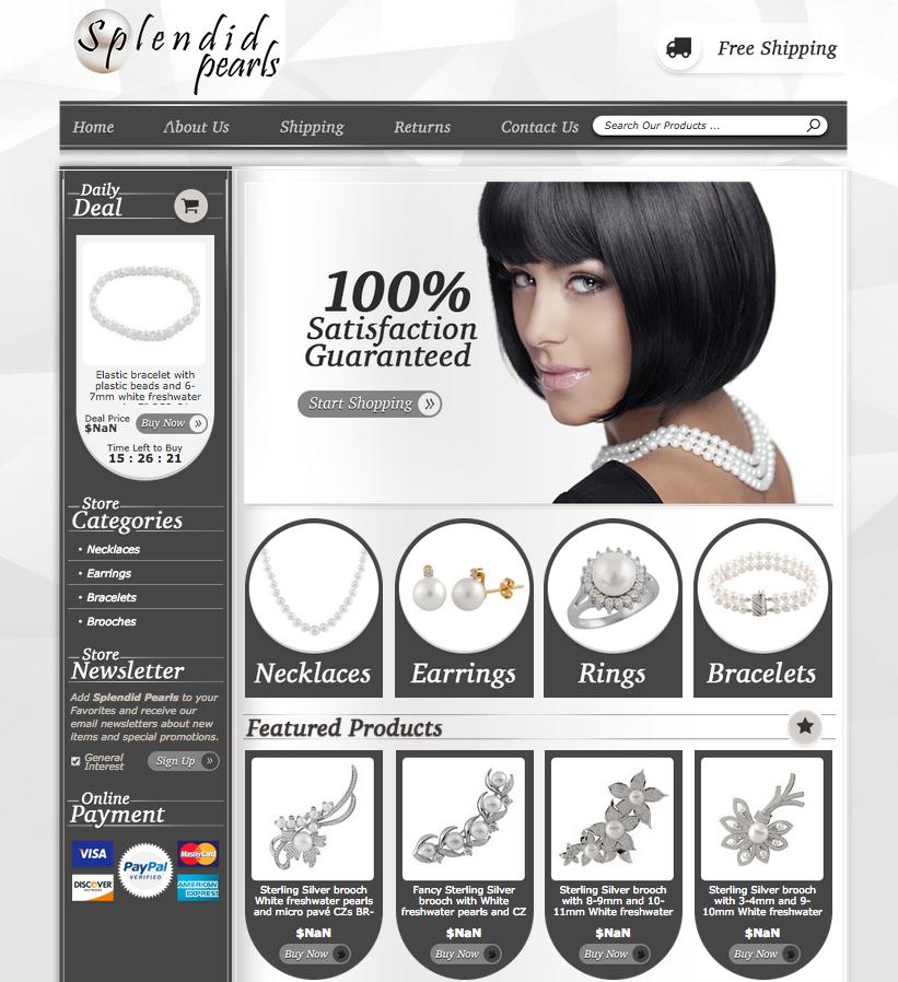 Elegant eBay store design from OCDesignsonline