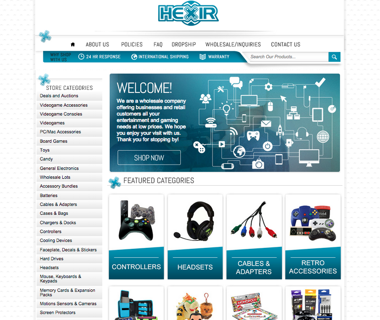 HX Game Wholesale gains new clients after the launch of their new eBay storefront design