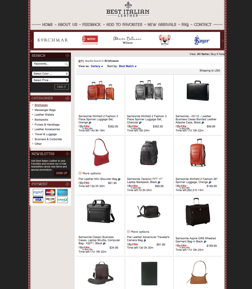 Take your eBay store to the next level with a new design from OCDesignsonline