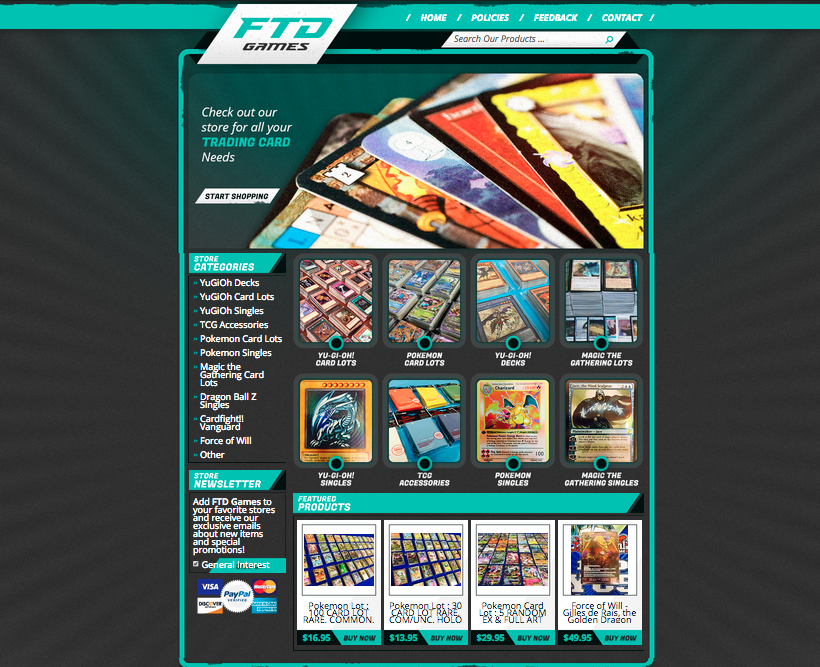 A pofessional eBay design for FTD Games from OCDesignsonline