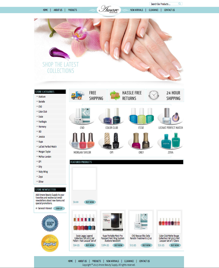 Beauty ebay store designs from OCDesignsonline