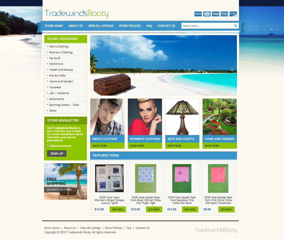 Home business owner Tradewinds Beauty sells more with a design from OCDesignsonline