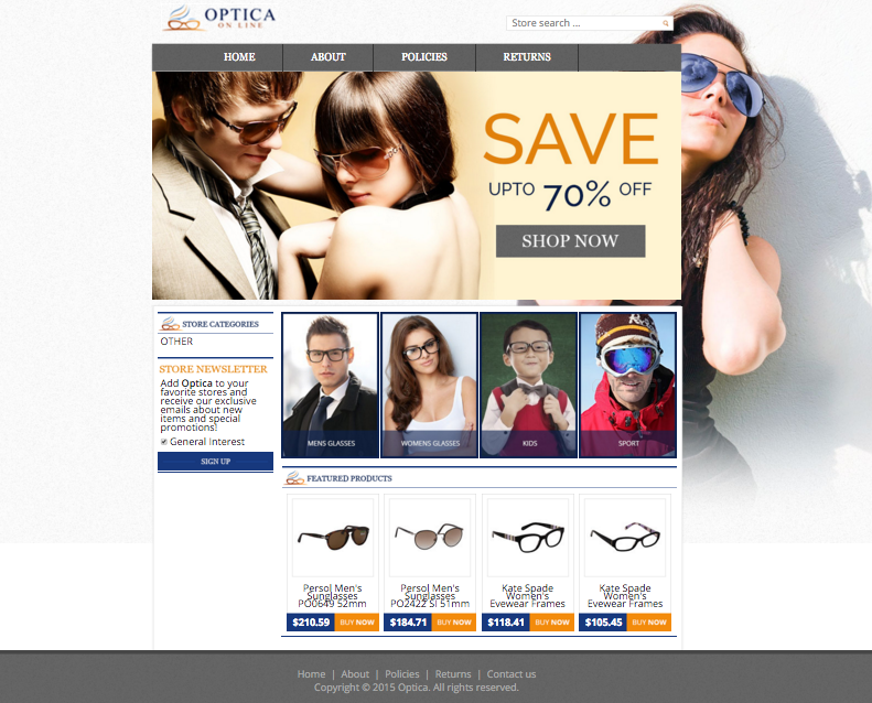 Optica On Lines new eBay store design will help them boost sales