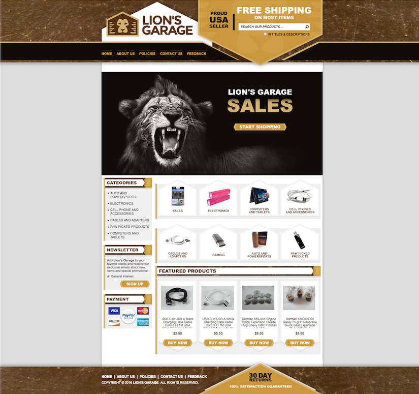 eBay templates for electronics stores