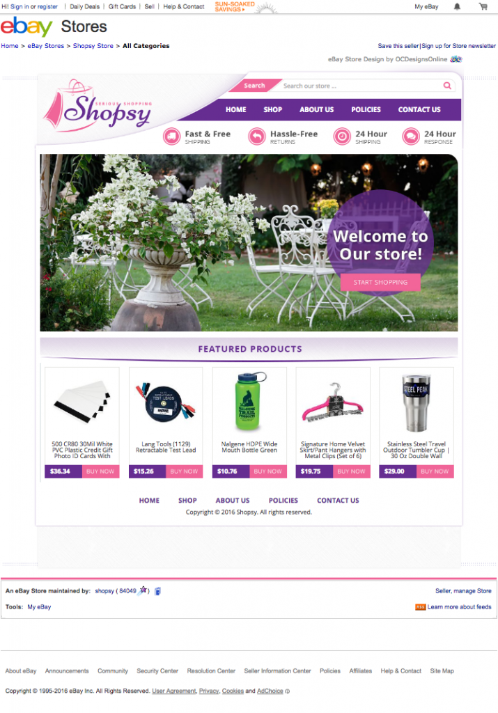 Shopsy eBay Store Sales Boosting with their new eBay Store Design ...