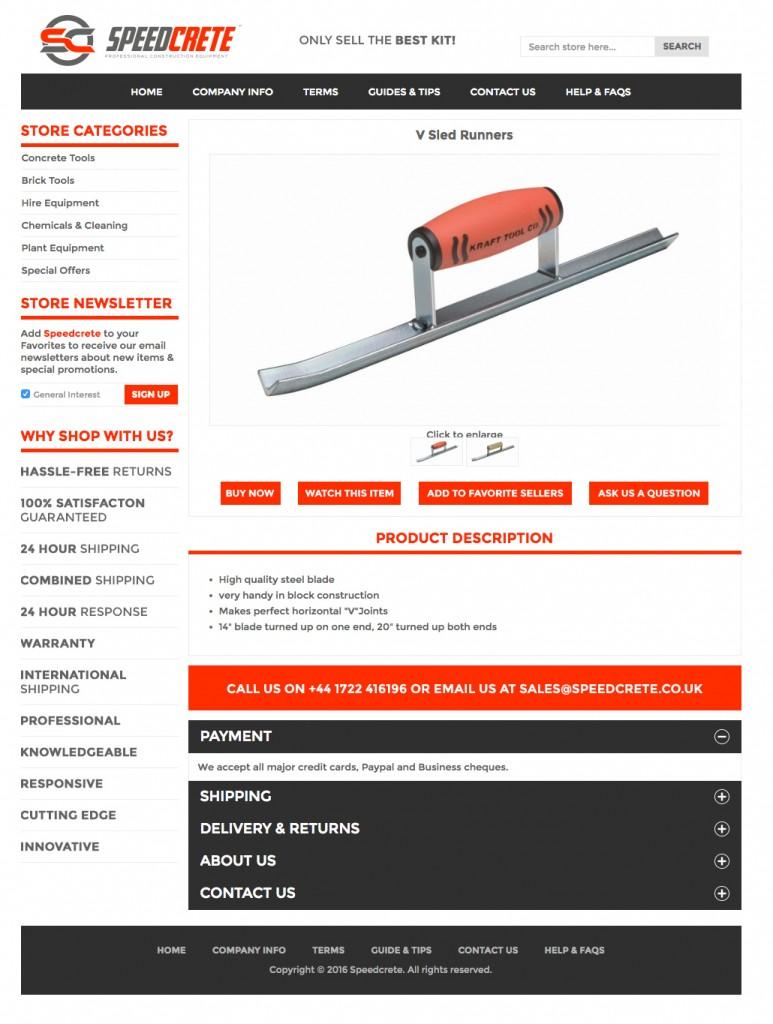 Speedcrete custom listing page