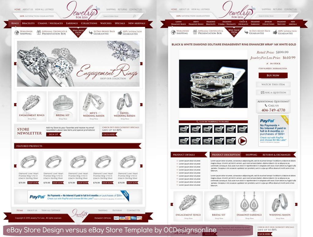 What Is The Difference Between An Ebay Store Design And A Ebay Template - Ebay store templates
