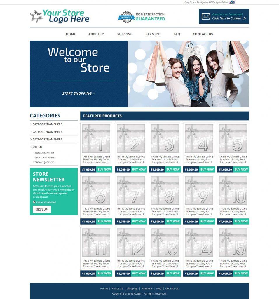 eBay premade store designs 956x1024
