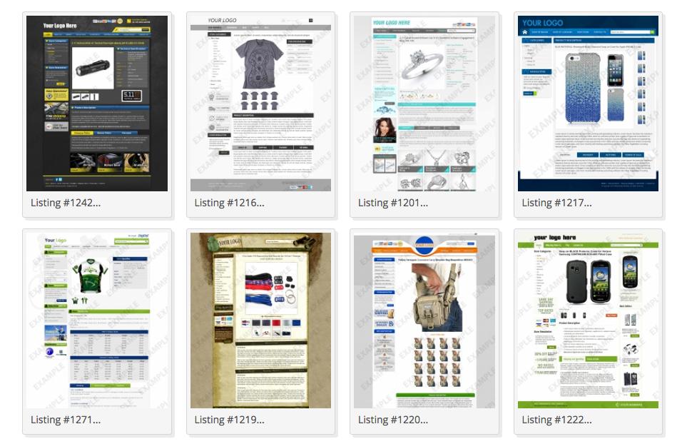 premade eBay templates
