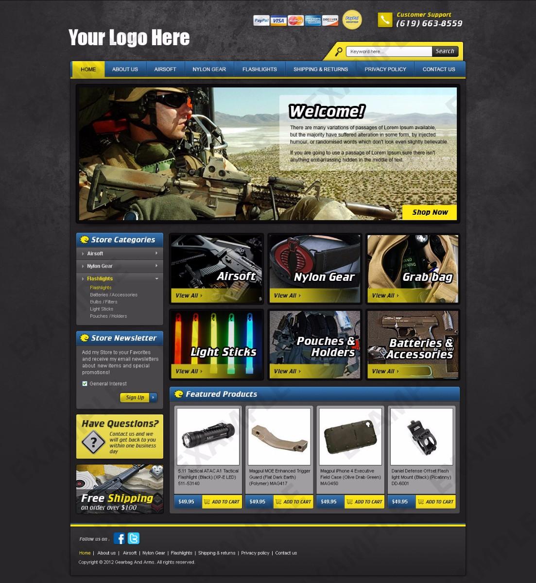 Babblelounge ebay store design sporting goods theme 1242 for Ebay store template tutorial