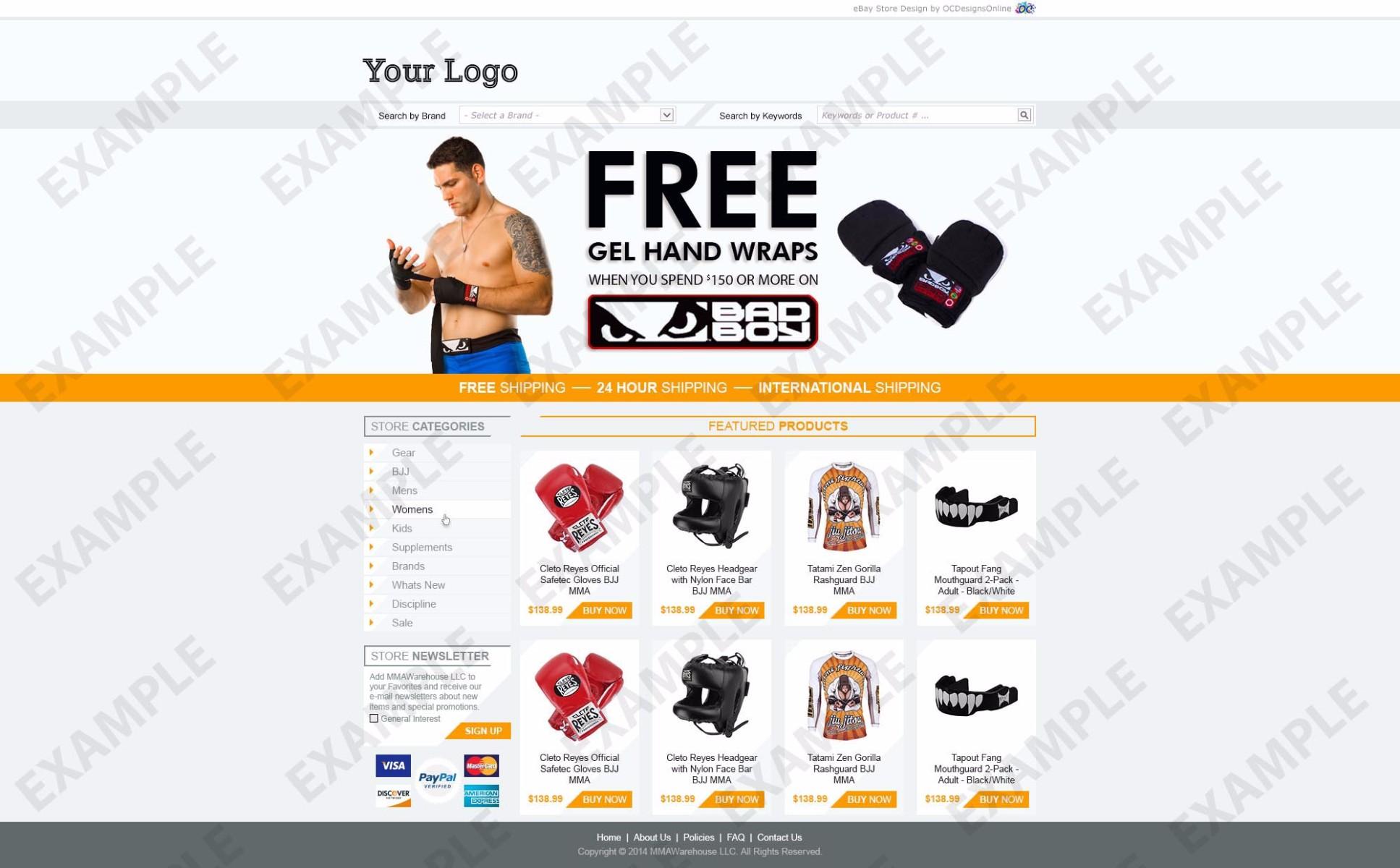 ebay store template tutorial - blogshots ebay template apparel shoes theme 1273