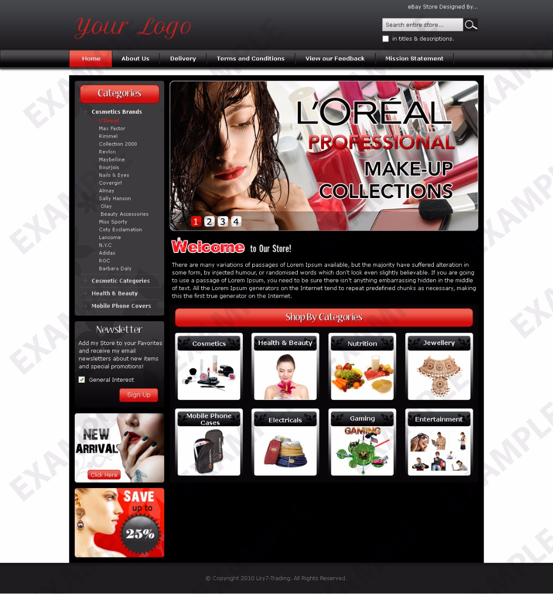 Avare ebay store design any industry theme 1318 for Ebay store template tutorial