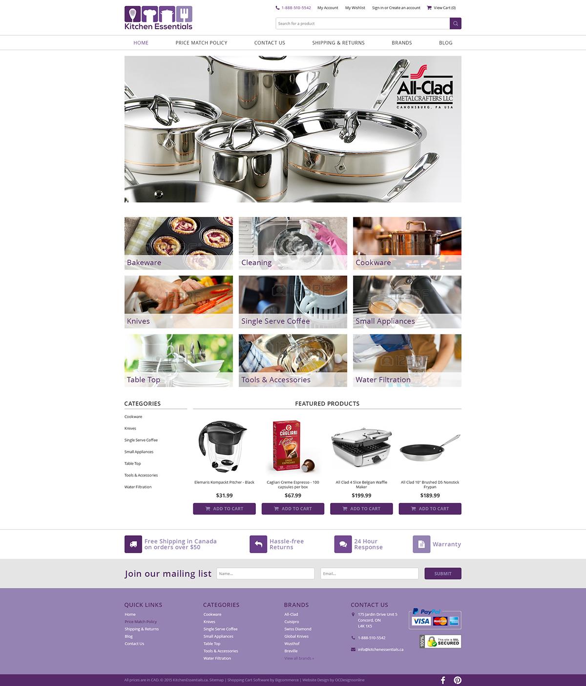 KitchenEssential custom bigcommerce store design