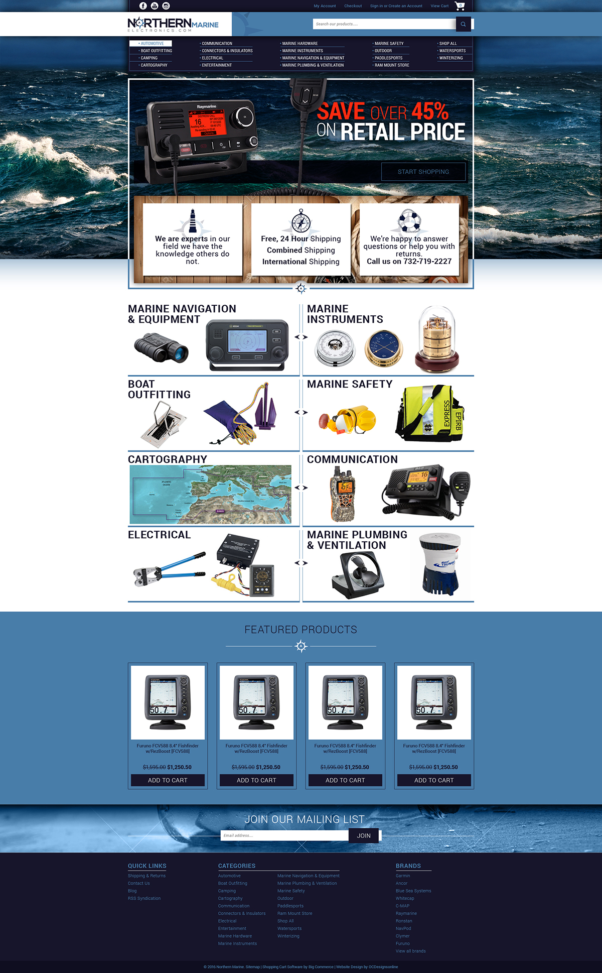 Northern Marine bigcommerce custom store design